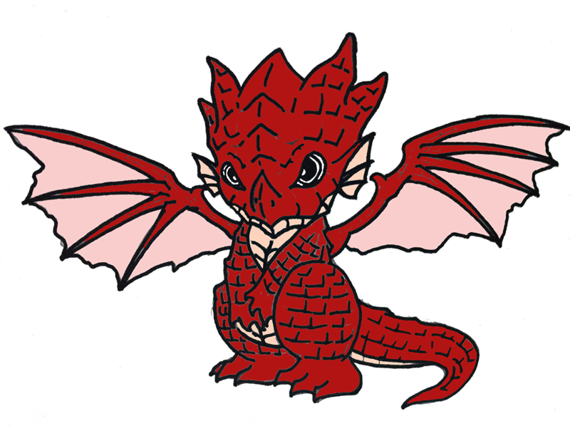 Fire dragon colored by. Igneel drawing clip black and white download