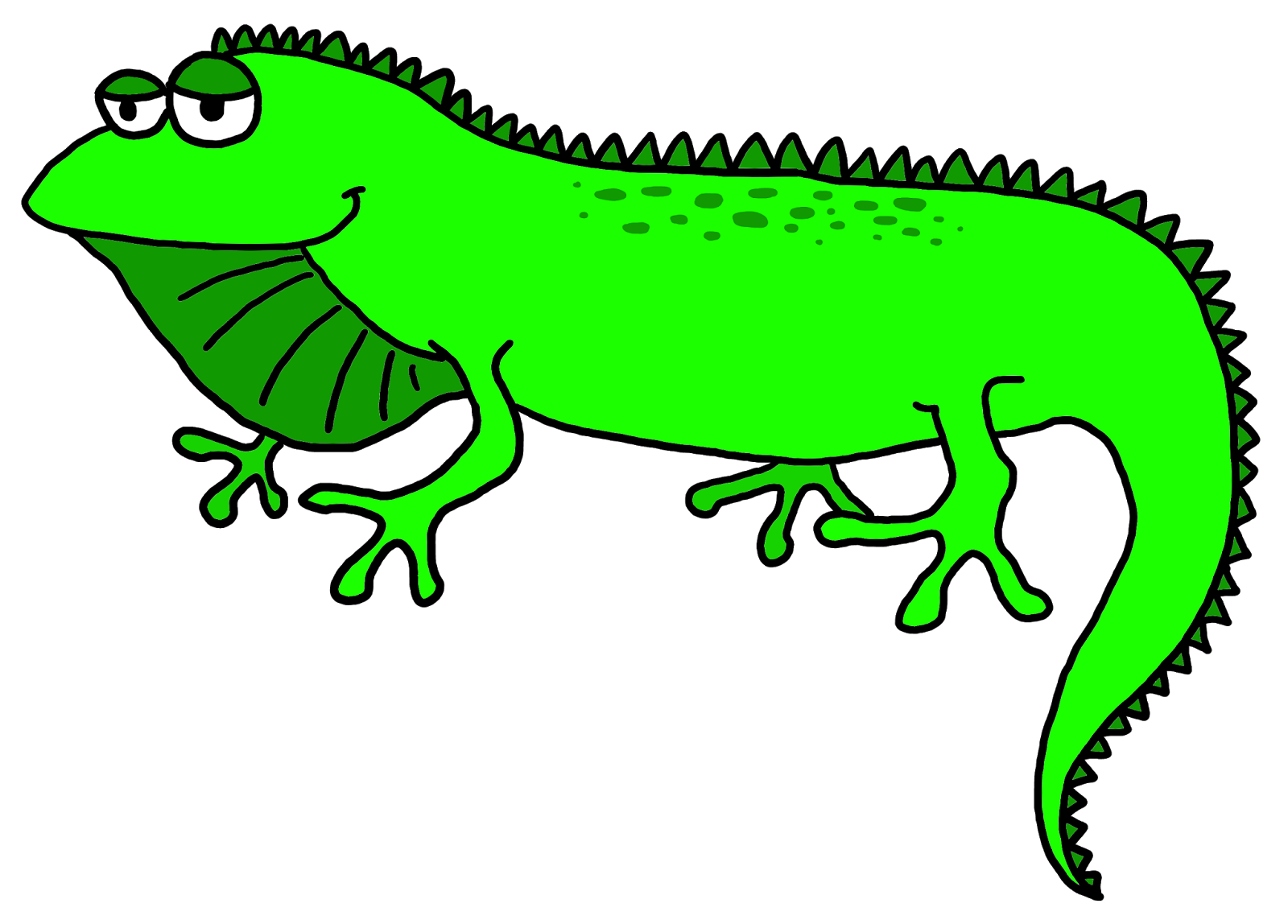 Jamaican drawing iguana. Clip art library