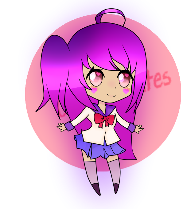 Ihascupquake drawing. Collection of chibi