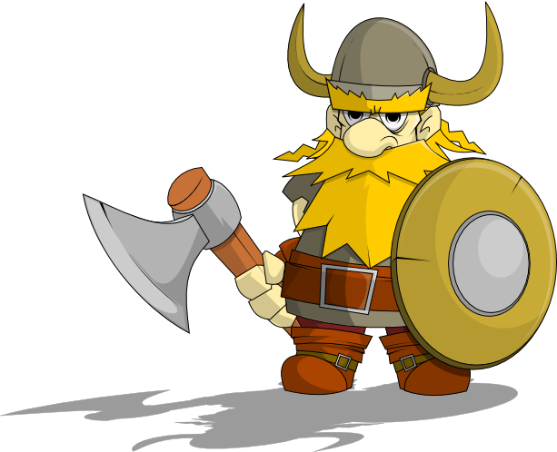 collection of high. Warrior clipart viking man black and white stock