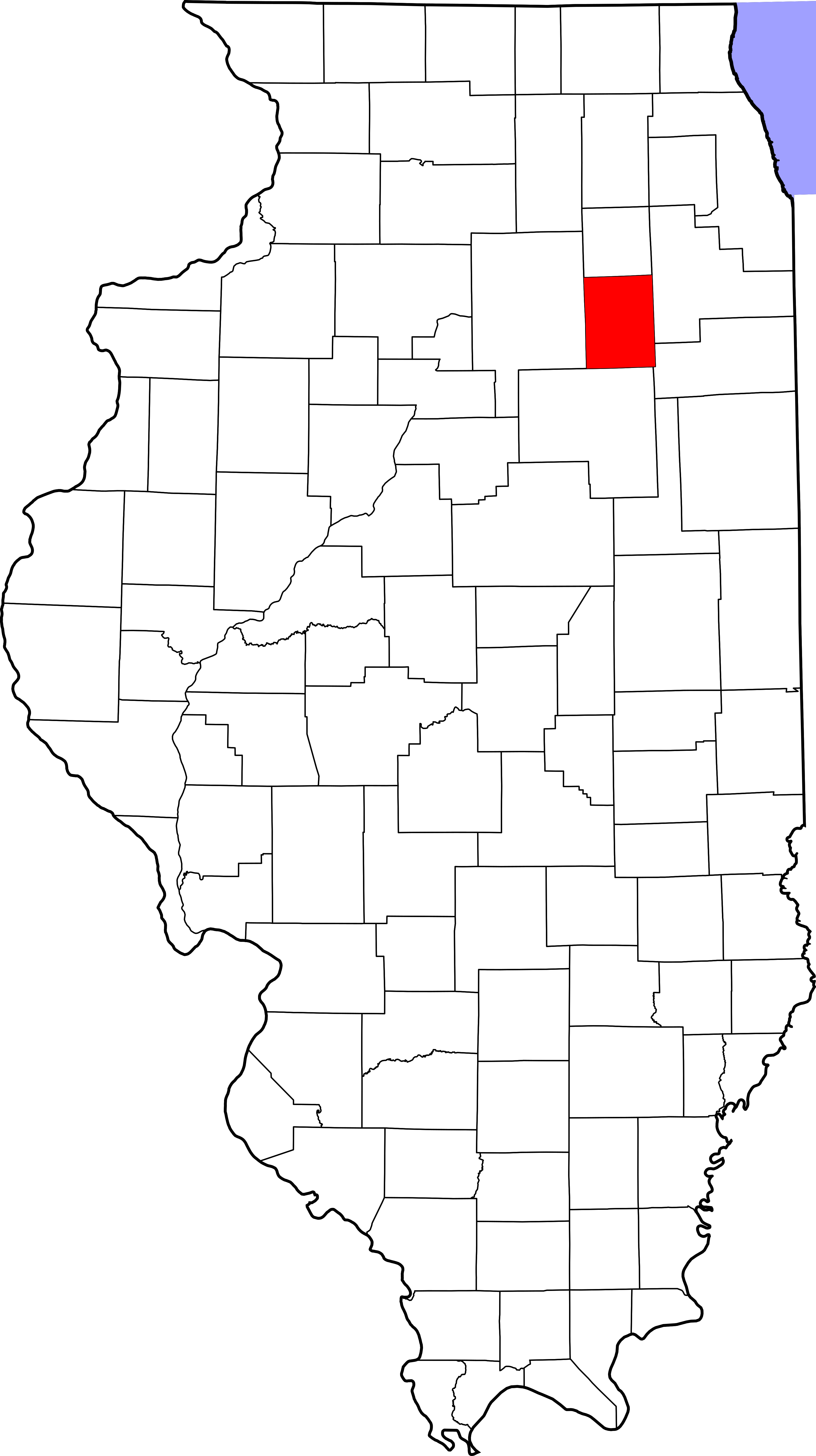 Illinois outline png. File map of highlighting