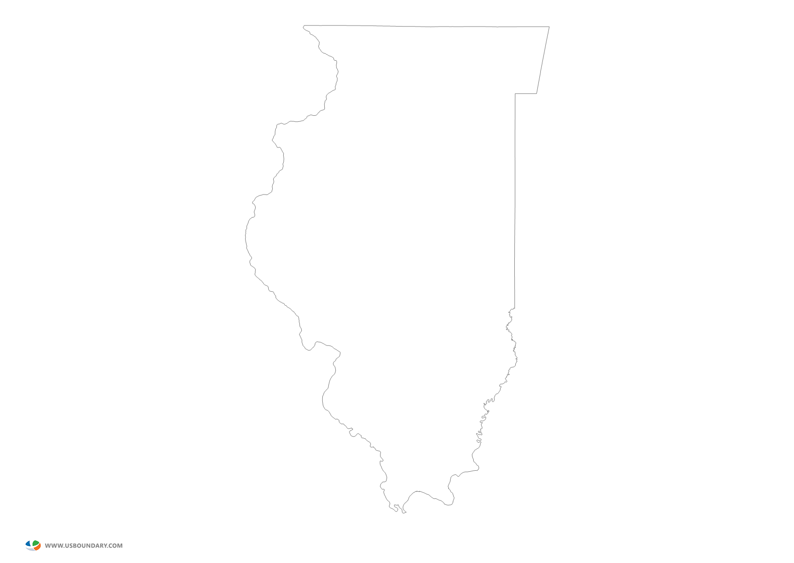Illinois outline png. State maps download map