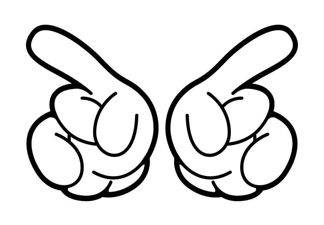 Illuminati hands png. Clipart mickey mouse glove