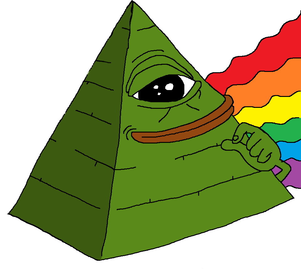 Illuminati transparent png. Pepe pride stickpng download