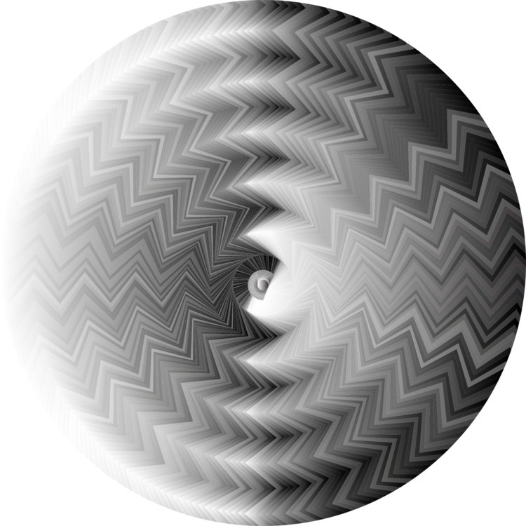 Illusions drawing eye. Fraser spiral illusion barberpole