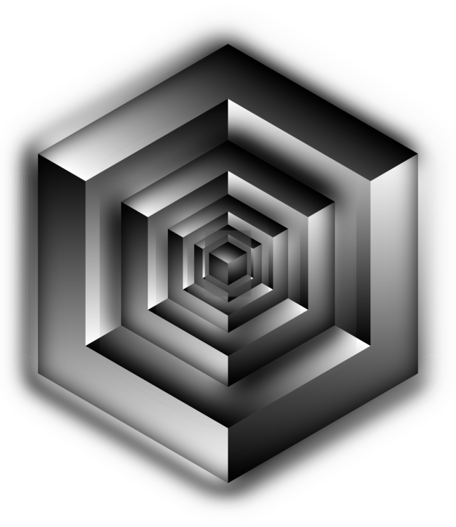 Illusions drawing shading. Impossible cube penrose triangle