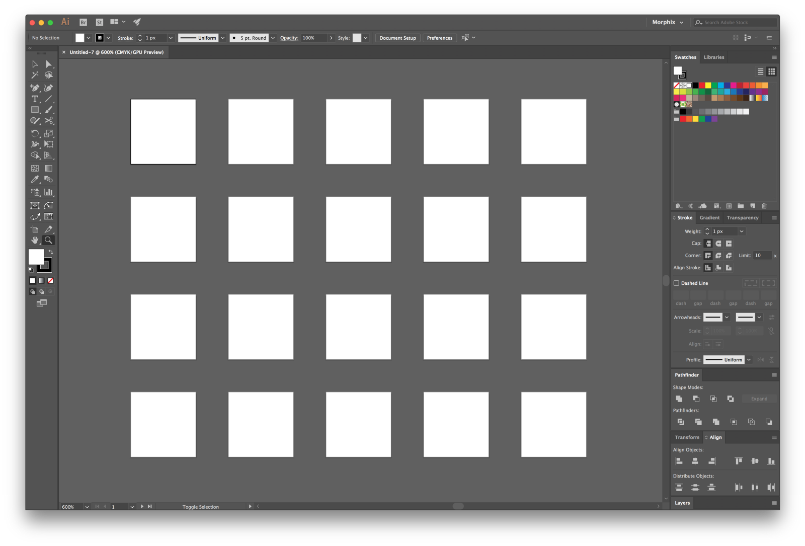 Illustrator convert png to vector. How export icons multiple