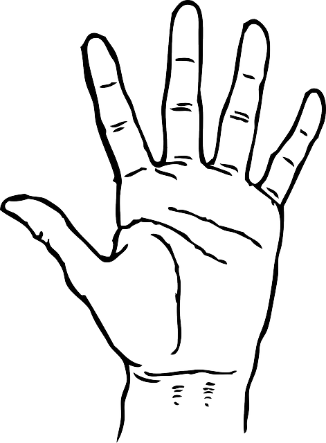 United drawing hand. Left and right at