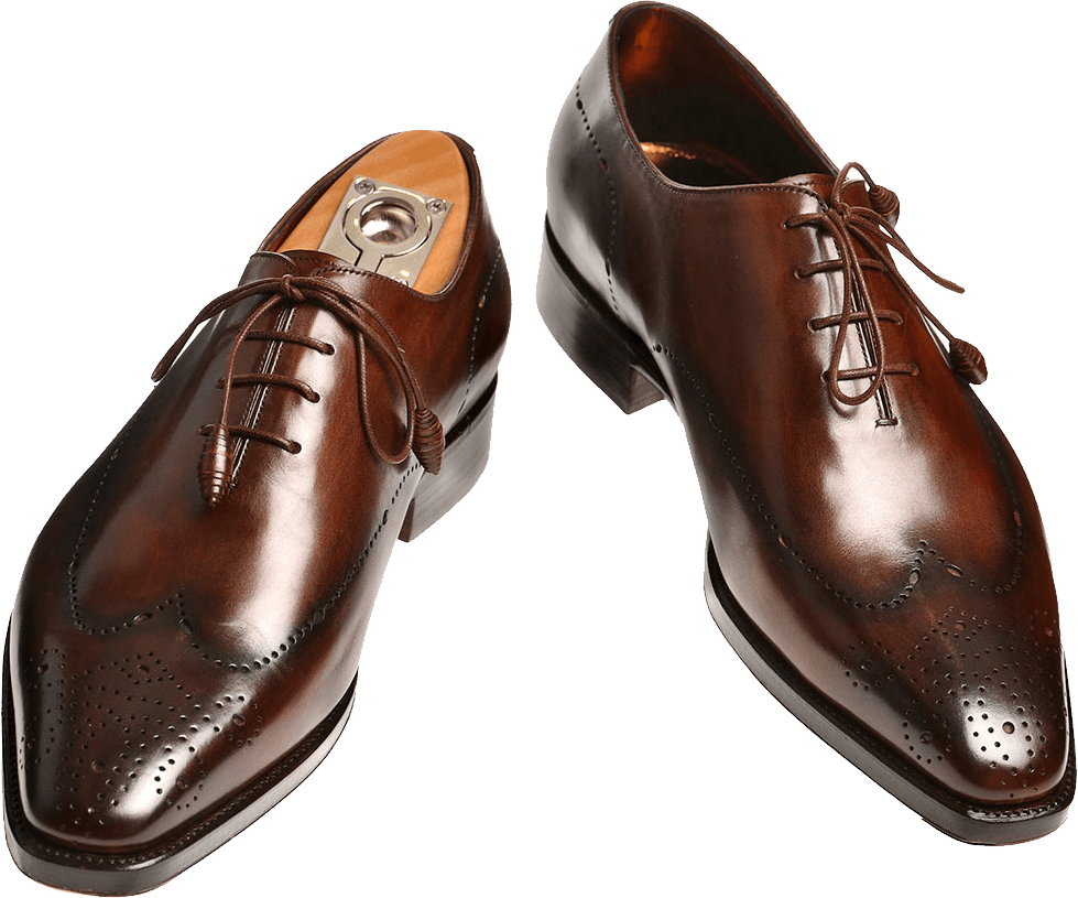 Leather shoes png. Pair of classy men