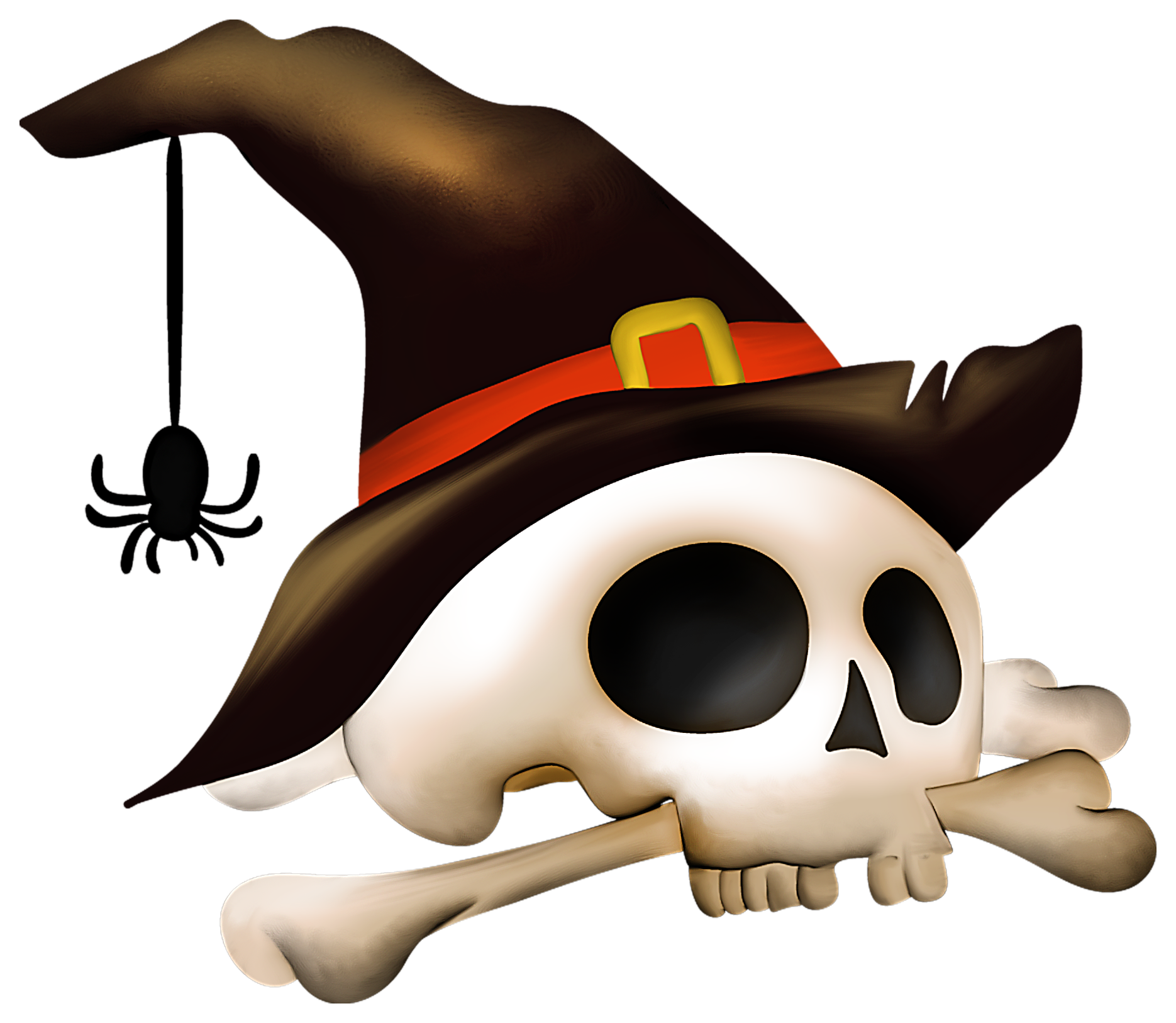 Imagenes de halloween png. Skull with bone and