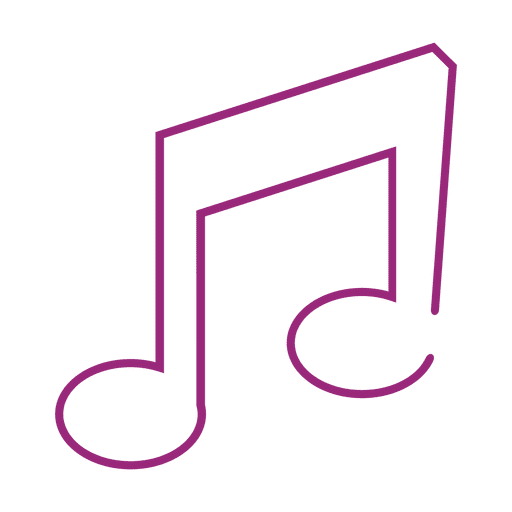 purple music note png