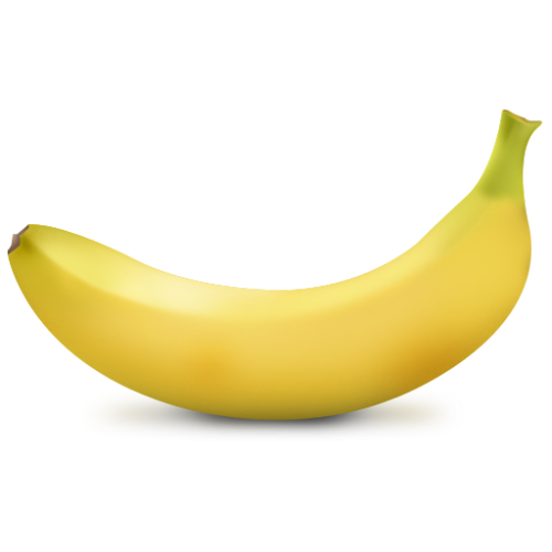 Images of bananas png. Banana one isolated stock
