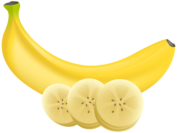 Banan clip transparent. Banana and slices png