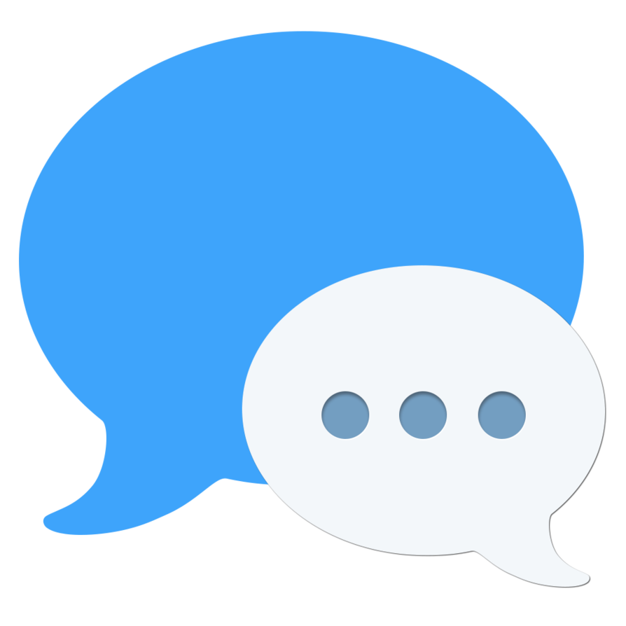 Imessage bubble png. Flat by packrobottom on
