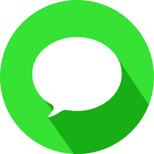 Imessage bubble png. Social network buttons by