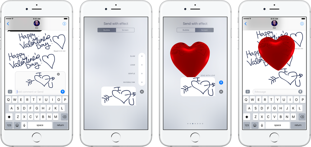 Imessage drawing. How to send love