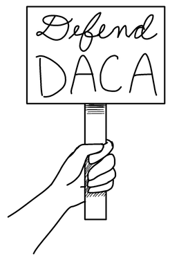 Immigrant drawing daca. Donald s attack on