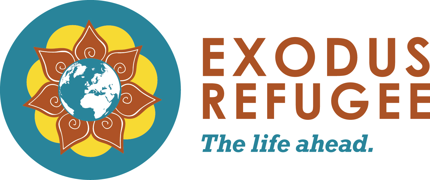 Migration drawing refugee child. Exodus immigration building a