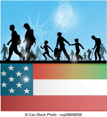 American people background with. Immigration clipart jpg library
