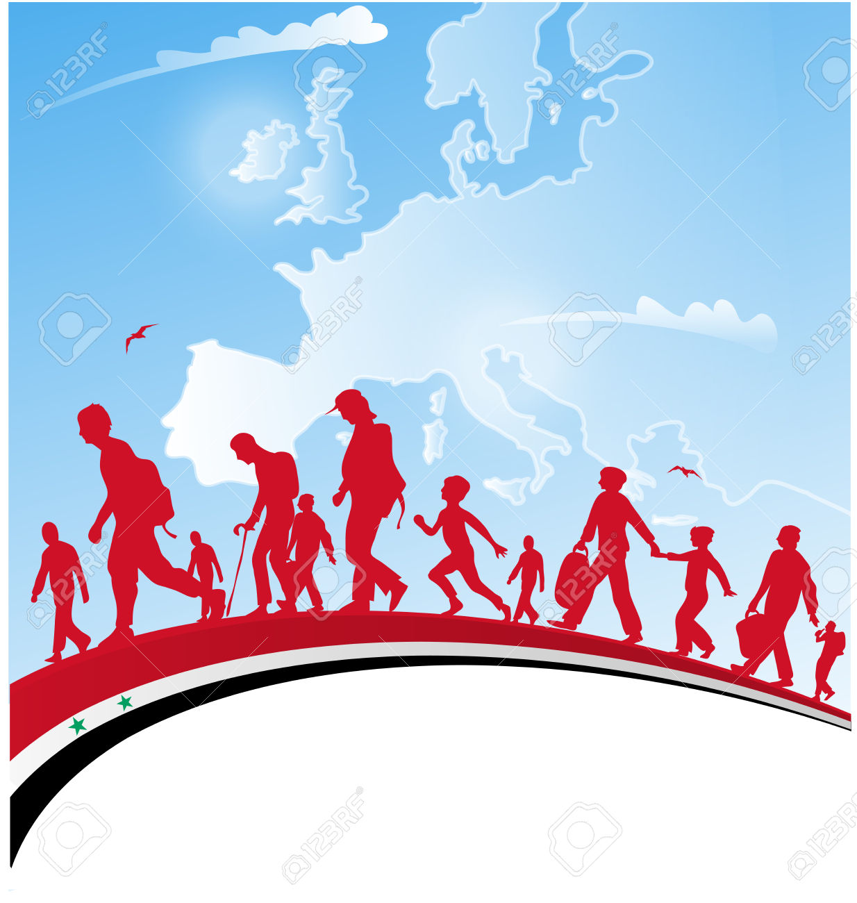 Immigration clipart. Vector people panda free banner freeuse library