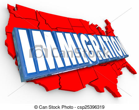 D word usa united. Immigration clipart clip freeuse stock