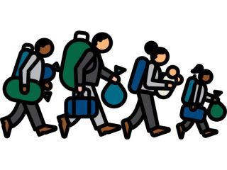 Immigration clipart. Leaving cert french sample graphic black and white stock