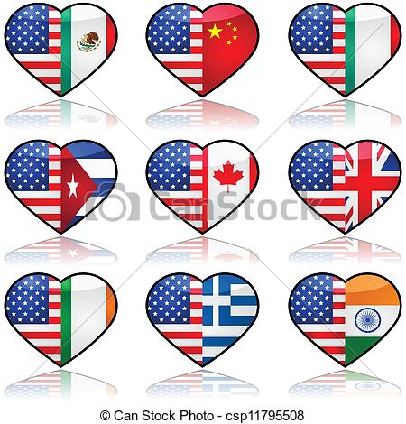 Immigration clipart. Usa divided love icon clip transparent