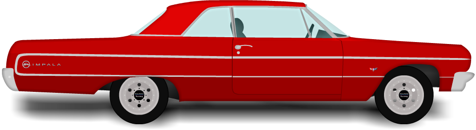 Chevy drawing impala