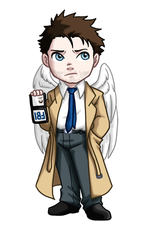 Supernatural clip castiel. Chibi by twinenigma on