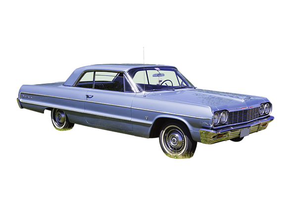 Impala drawing classic car. Chevrolet muscle t