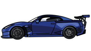Rim drawing gtr. How to draw cars