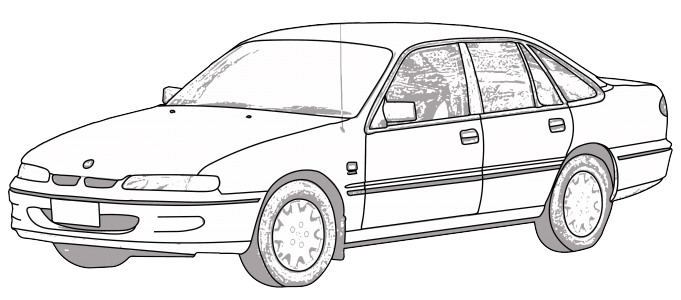 R34 drawing professional car. Commodore colouring pages rapunga