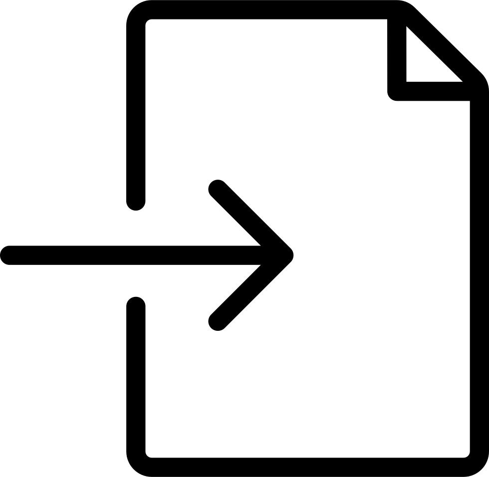 Import svg png. Thin file document icon