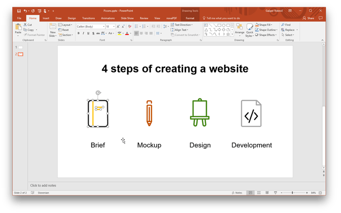Import svg powerpoint. Using vector icons in