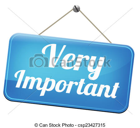 Very information crucial message. Important clipart vector royalty free stock