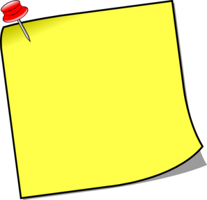 Postit vector notice board. Stick note with pin