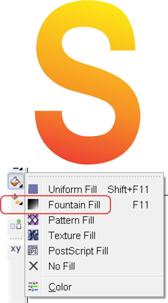 Imported png looks like shit in coreldraw. Gradient fill curved objects
