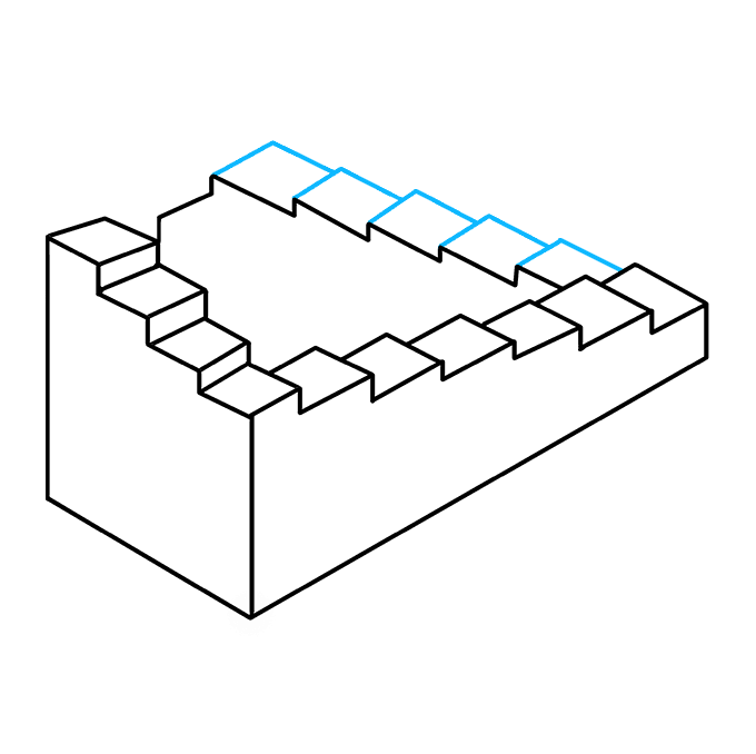 Impossible drawing. How to draw stairs