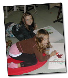 Impressionistic drawing pastel. Art lessons summer camps