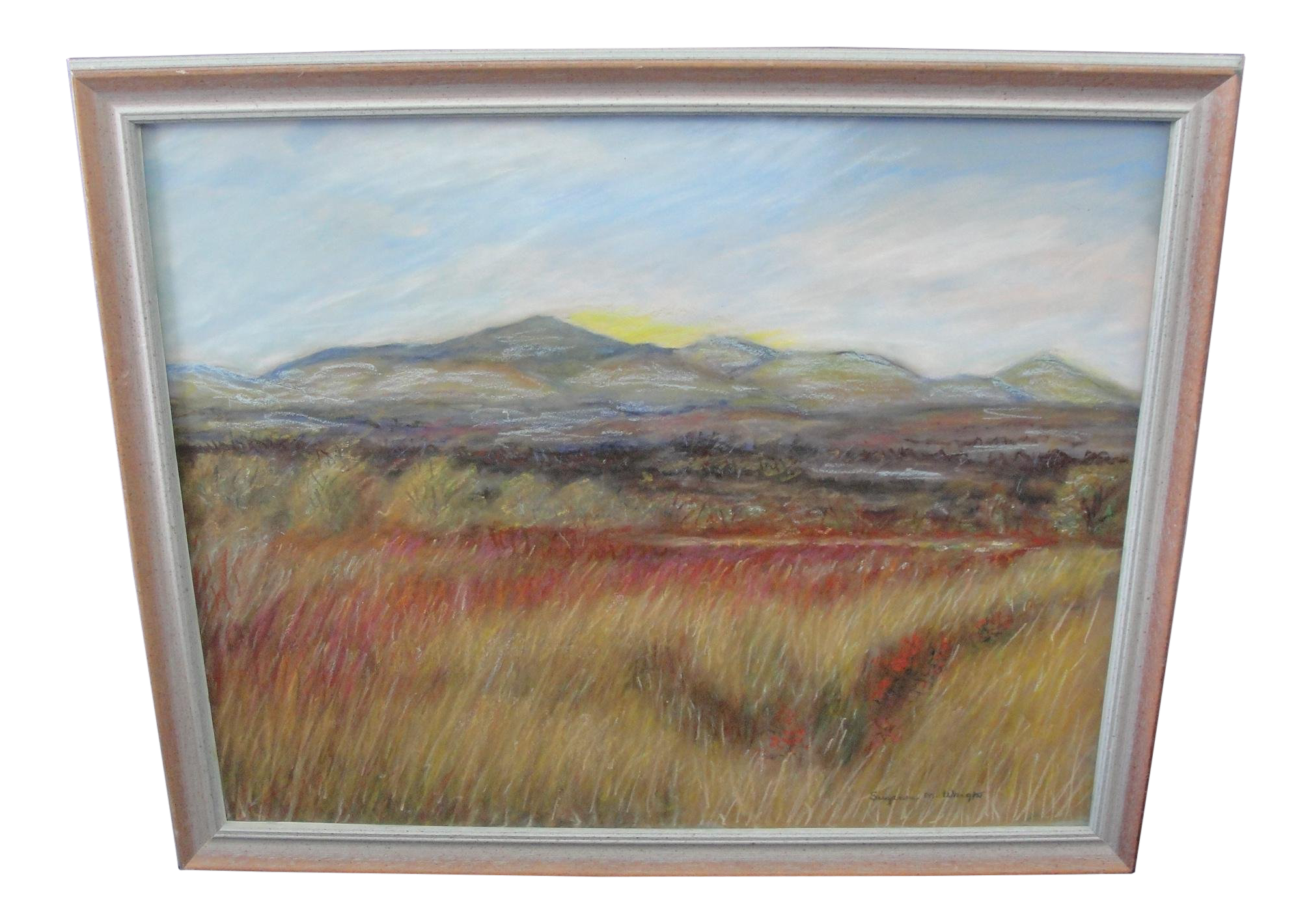 Arts drawing landscape. Late th century vintage