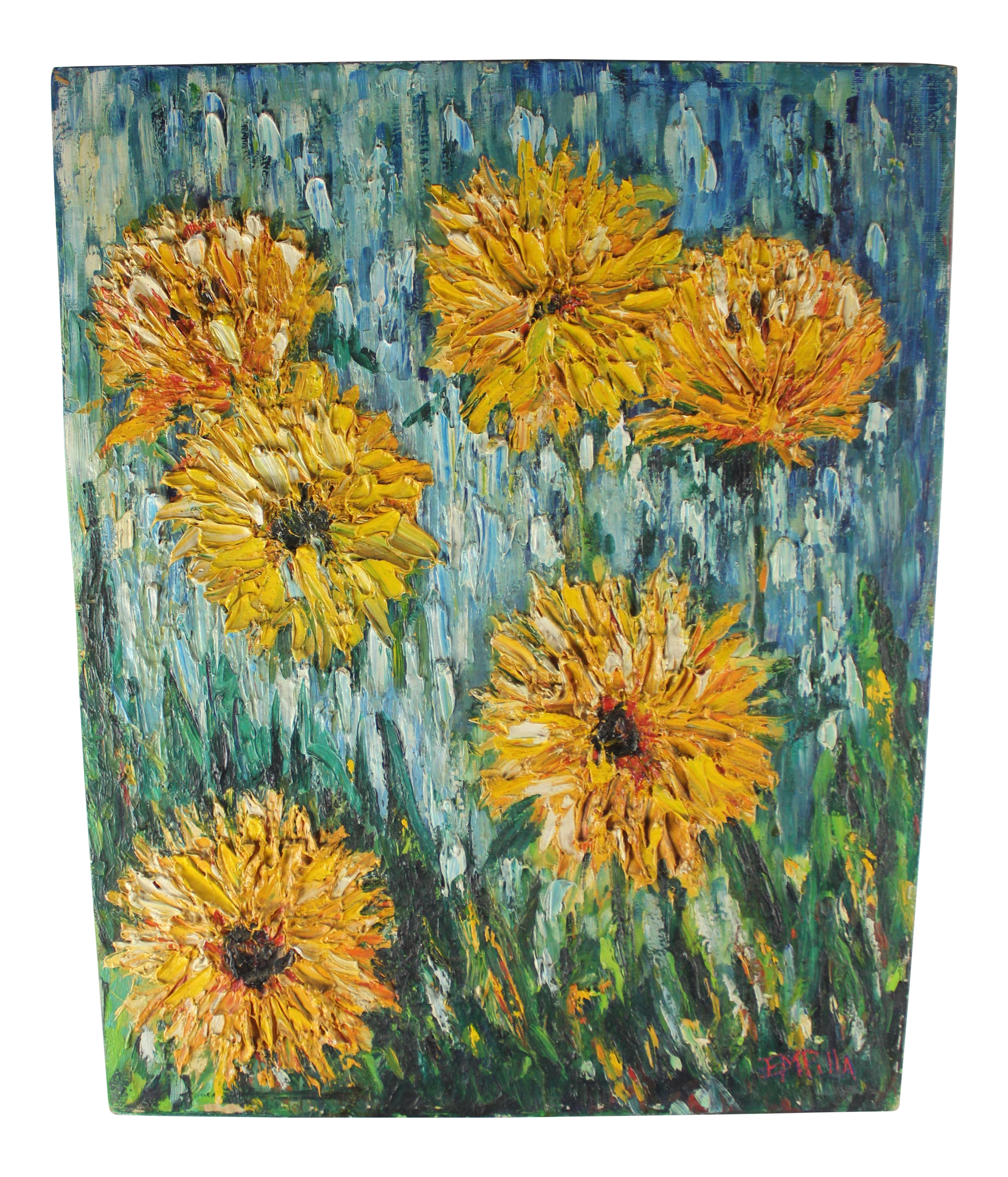 Impressionistic drawing basic. Impressionist style flower painting
