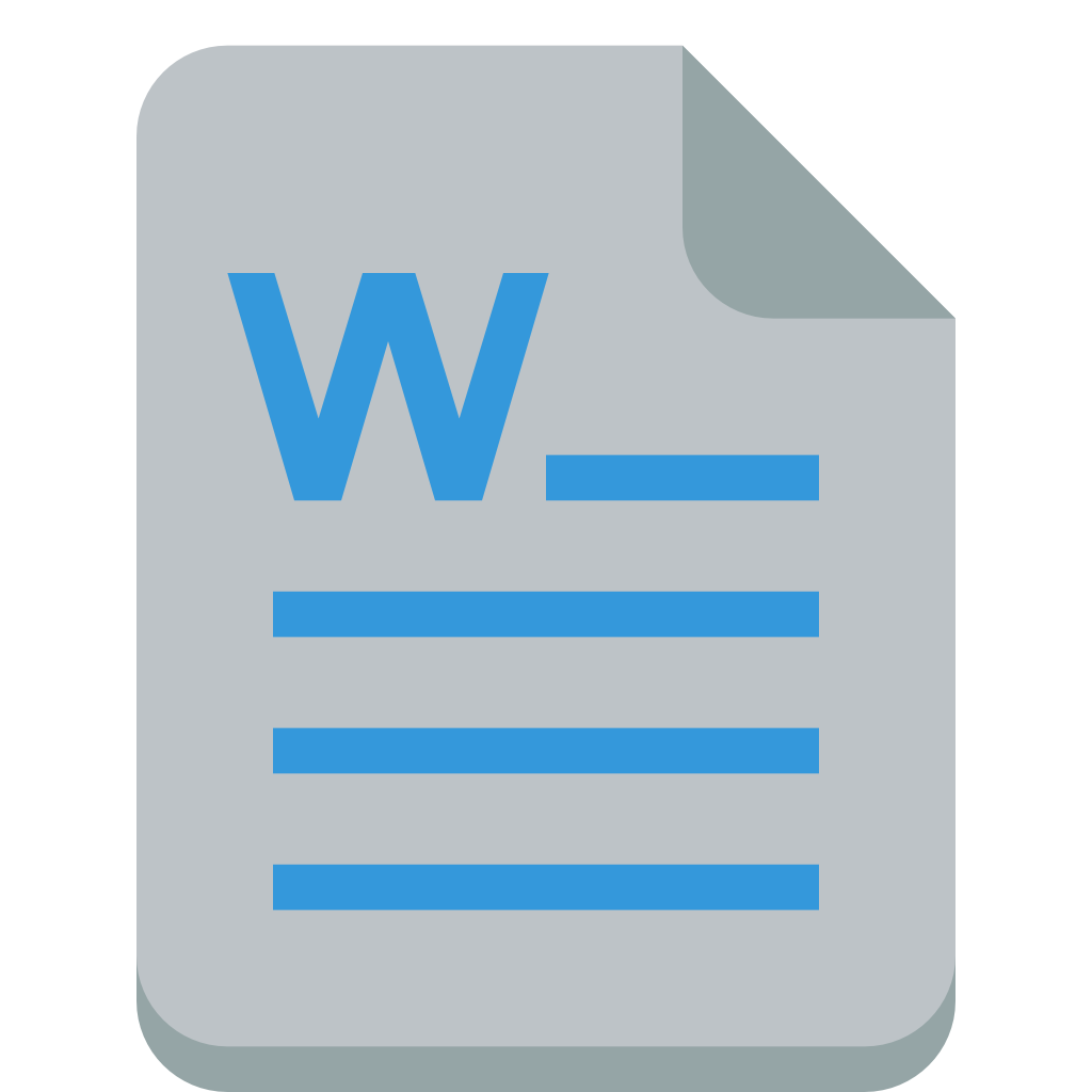 In png format. File word icon small