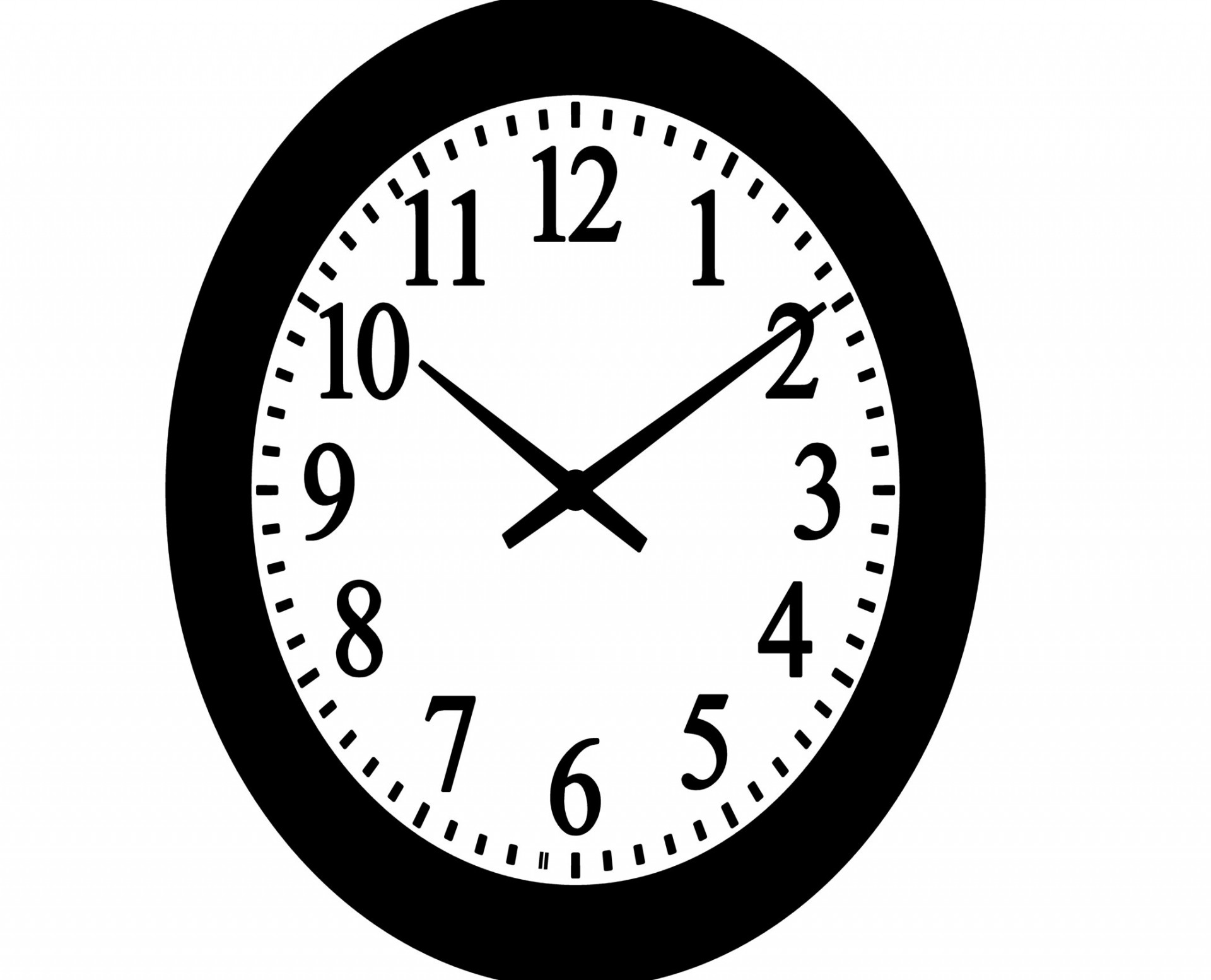 In the clipart clock. Wall clip art free