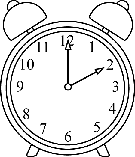 In the clipart clock. Clip art images black