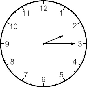 In the clipart clock. Free clip art of