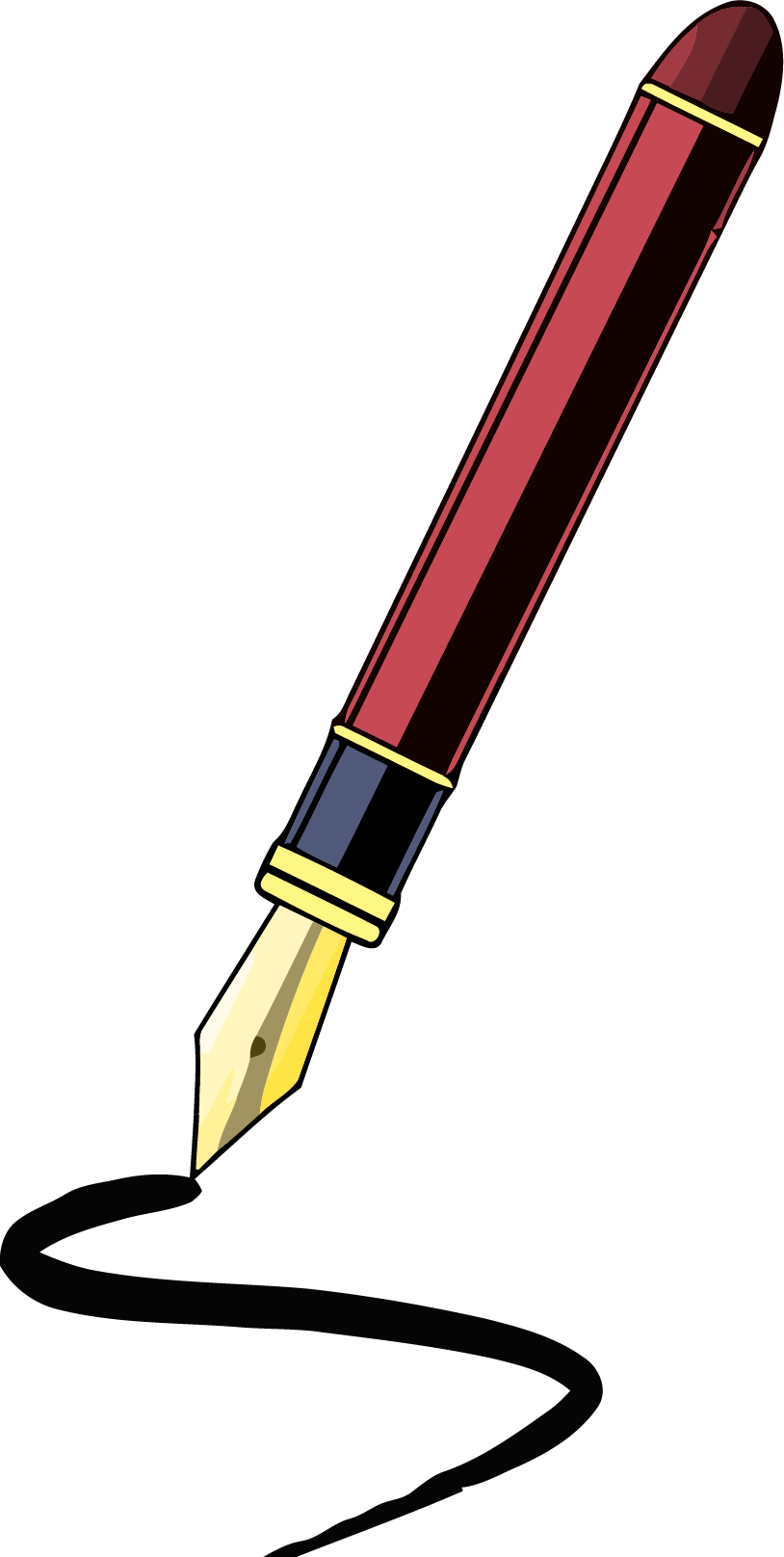 Pencil clipart png. Fancy pen clipartly comclipartly