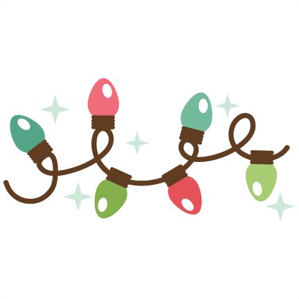 Christmas light string png. Clipart transparent background free
