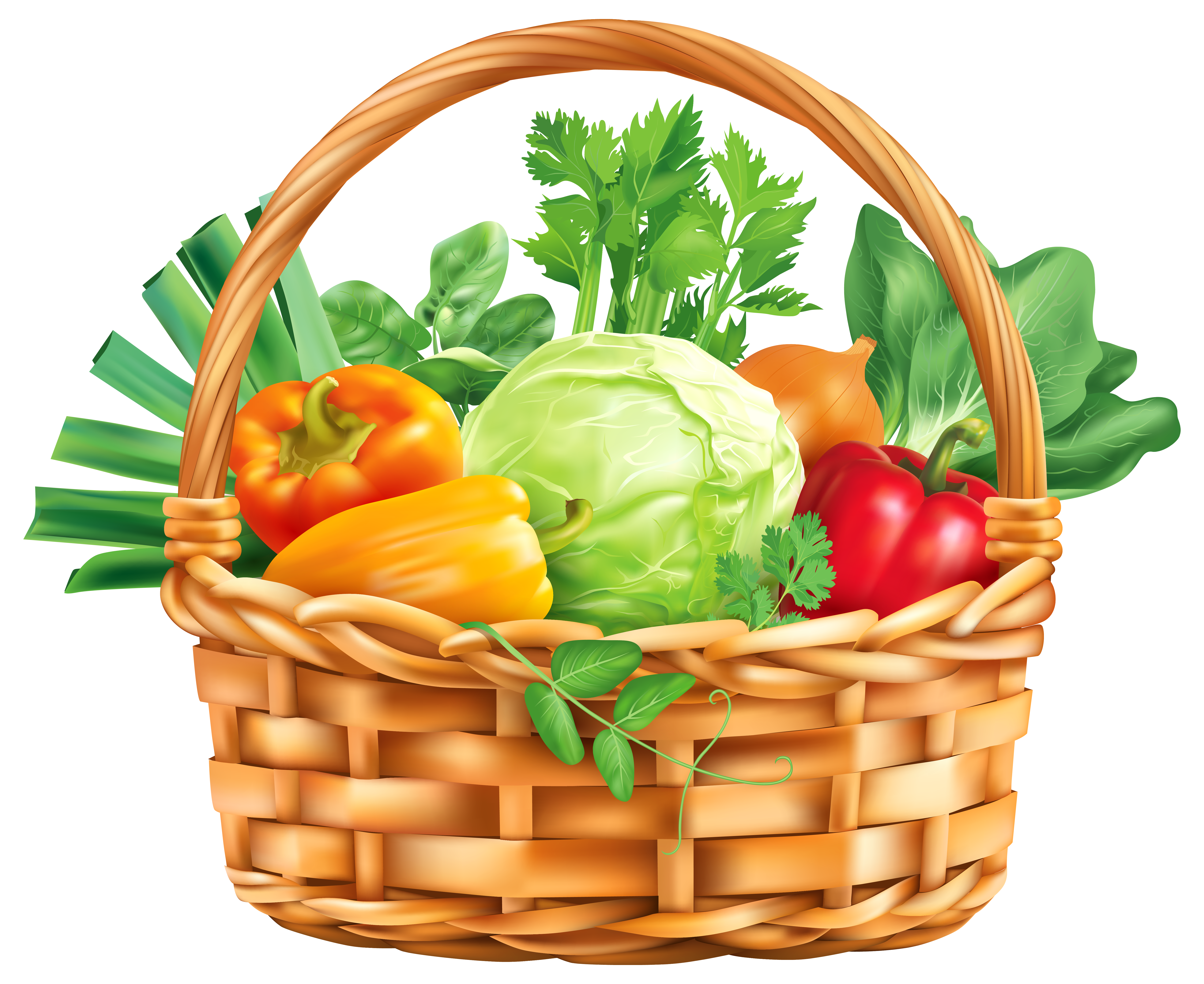 Vegetable clipart. Free basket cliparts download