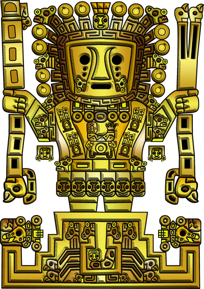 Inca llama statue png. Viracocha the great creator