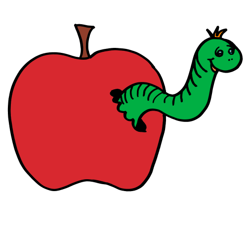 Inch free download best. Worm clipart apple clip library library